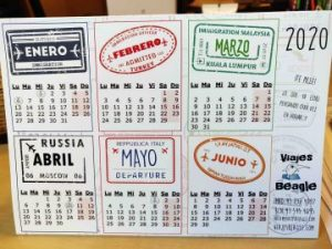 calendario 2020 viajes beagle