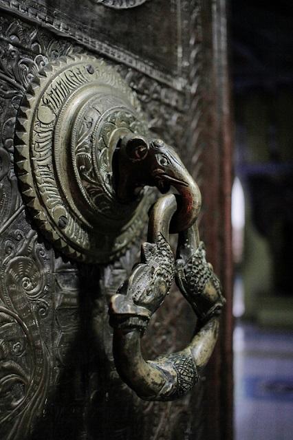 Detalle del templo en Sri Lanka