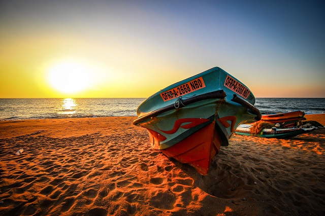Sol en las playas de Sri Lanka