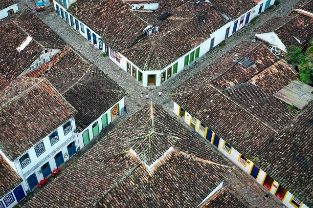 Casco Histórico de Paraty vista área