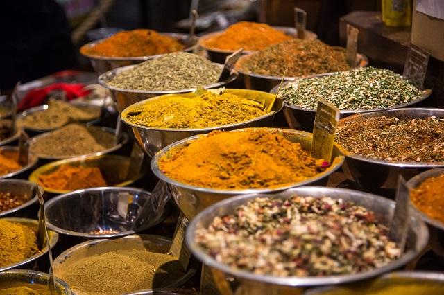 Especias de curry en Sri Lanka
