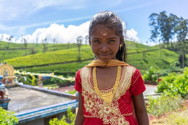 Sri Lanka niña